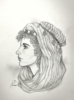 Portrait Commission - Princess of Aleppo by Gambargin