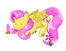 Sleepy Fluttershy by ForeverRoseify