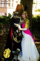 Ganondorf and Zelda (in Love???) by pure-faces