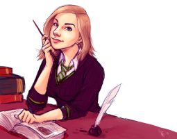 Julie as a Hogwarts student by oomizuao