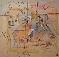 Abstract gouache by Boias
