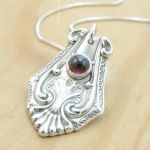 Spoon Pendant with Rhodolite Garnet by metalsmitten