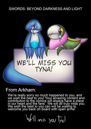 We'll miss you Tyna! by MudkipWaterkip