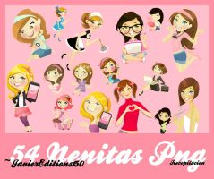 ~Pack de Nenitas PNG. by JavierEditions150