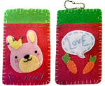 Bunny card holder by TheRainbowCloud