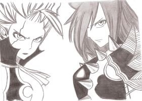 Erza and Mirajane by Chocogirl3