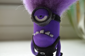Despicable Me 2 Evil Purple Minion Clay Sculpt by dcX1991