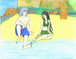 Riku and Toph by zeldalilly