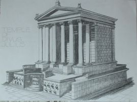 Temple of Divus Julius by TamTamZ