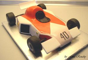 Old F1 Car Cake by ginas-cakes