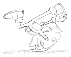 Sonic Breakdance :you can color: by Blue-Chica