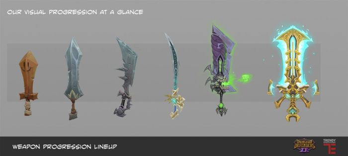 Dungeon Defenders 2 weapons by DanielAraya