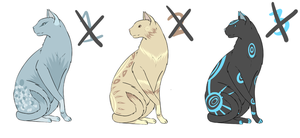 :.CLOSED.: Cat Adoptables Set 2 by cloudsnstuff