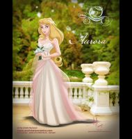 Aurora in Alfred Angelo Dress by AN-ChristianComics