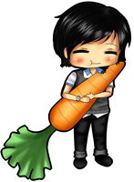 Chibi and Carrot by xxxRinRulesxxx