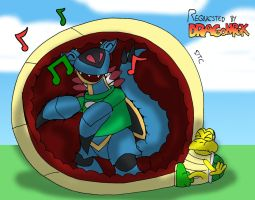 REQUEST - Dancing in a Koopa's Belly by Dan-the-Countdowner