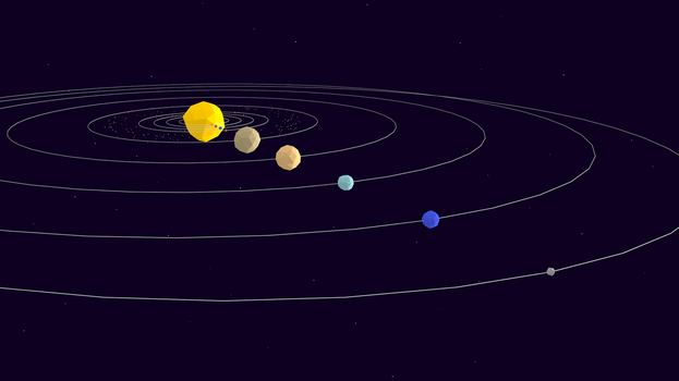 Low Poly Solar System by NoSmokingBandit