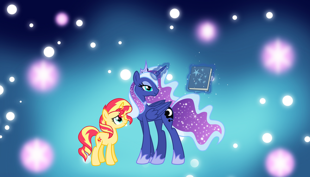 AU Princess Luna and Sunset by Osipush