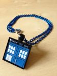 TARDIS Doctor Who - Companion's Necklace -Handmade by Monostache