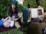 Vincent  and Little Ciel Phantomhive-Bedtime Story by darknaito