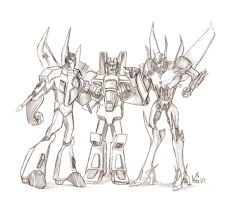 TF -  Too Many Starscreams by suzidragonlady
