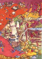 mushroom land colored by nounouille