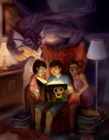 Books are magical by wood-illustration