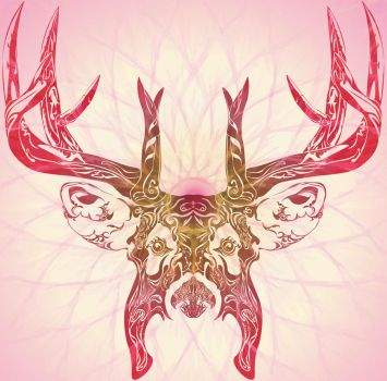 Deer (in color) by FortIron