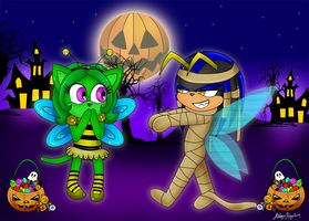 The Bumblebee and the Mummy by AilwynRaydom