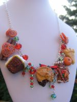 Christmas Charm Necklace Gingerbread by cynamonspice