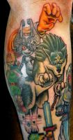 Kevin's Wolf Link and Midna by Sirius-Tattoo