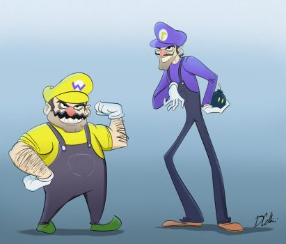 Wario and Waluigi by Domcell
