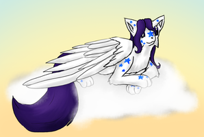 White PonyFox by Rika-of-Thunder