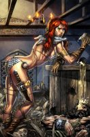 RED SONJA_Colored by totmoartsstudio2