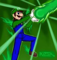 Luigi Green Fire - Release The Power! by raptorthekiller