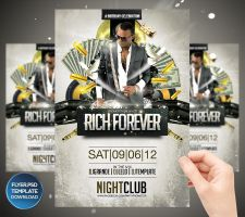 Rich Forever Party Flyer Template by Grandelelo
