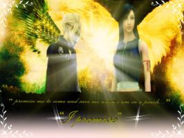 FF7  cloud and tifa by finaldreams7