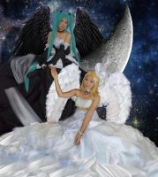 Hatsune Miku and Kagamine Rin - Angel and Devil by chendraproject