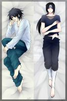 Commission: Itachi and L pillow by Ruri-dere