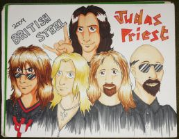 JP - British Steel Tour Poster by zombiepencil