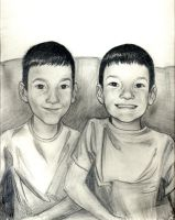Twin brothers by djaax