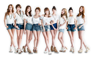 snsd png render 1 by pikudesign
