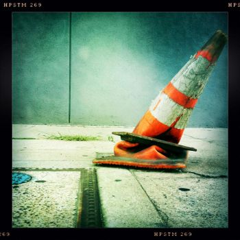 squished traffic cone by semper