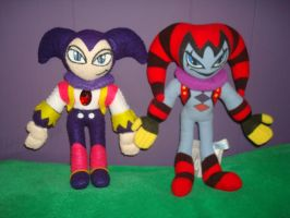 NiGHTS and Reala plush by NiGHTSfanKevin