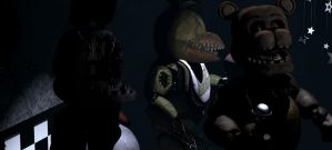 All Withered Animatronics On Show Stage (FNaF1) by PrimeYT