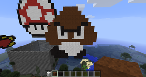 Goomba in Minecraft by branduboga