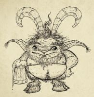 Satyr sketch by IgorSan