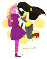 Sky Witch- Marcy and PB by Immature-Child02