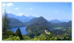 mountains in Bavaria by Eikka