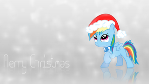 Rainbow Dash Christmas Wallpaper by Npm98